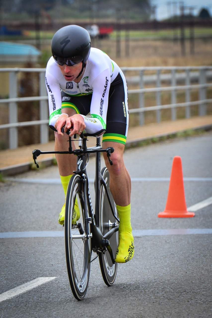 Australian Kyle Bridgwood won the Men's C4 Time Trial to claim gold on day one of the 2015 UCI Para-cycling Road World Cup in Pietermaritzburg on Friday 11 September. Photo credit: Darren Goddard