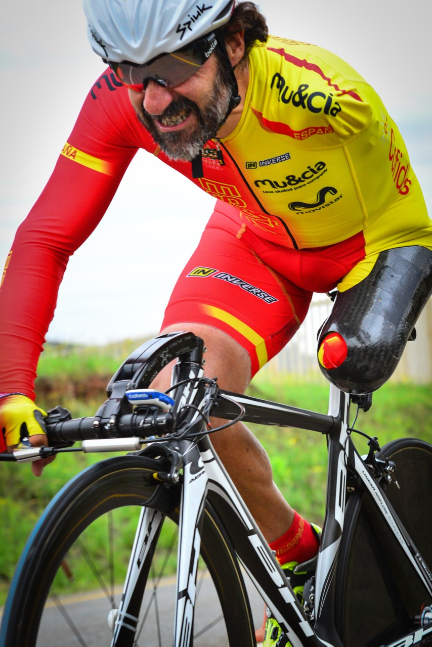 Juan Jose Mendez from Spain claimed a silver medal in the Time Trial on day one of the 2015 UCI Para-cycling Road World Cup in Pietermaritzburg on Friday 11 September. Photo credit: Darren Goddard