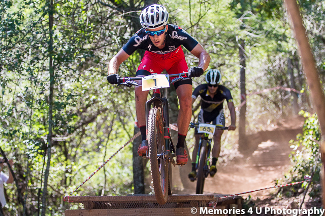 National Champion James Reid of Team Spur claimed the Pro-elite Men's victory in emphatic style at the opening round of the 2016 SA XCO Cup Series in Mpumalanga on Saturday 30 January. Photo credit: Memories 4 U Photography
