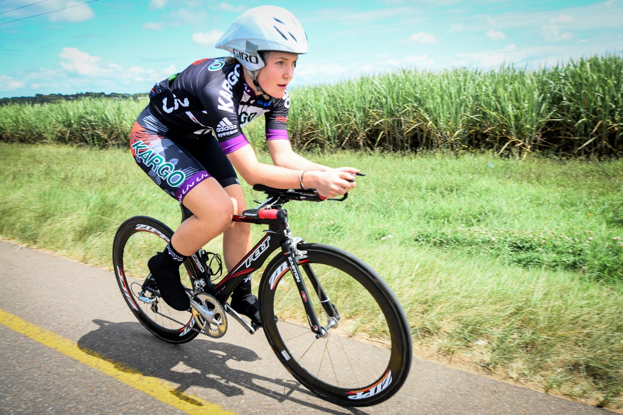 Local resident and rising mountain bike star, Frankie du Toit (Kargo Pro MTB Team) enjoyed racing in her hometown on the familiar training hills of the area during the Time Trial at the 2016 SA National Road, Time Trial and Para-cycling Championships in Wartburg, KwaZulu-Natal,on Wednesday 10 February.Photo credit: Darren Goddard