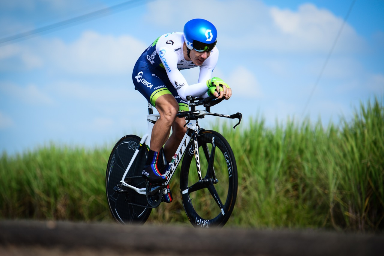 Daryl Impey (Orica-GreenEDGE) clocked the fastest time overall to claim his fifth National Title in 01:01:22,37 on Day 2 of the 2016 SA National Road, Time Trial and Para-cycling Championships in Wartburg, KwaZulu-Natal, on Thursday 11 February. Photo credit: Darren Goddard