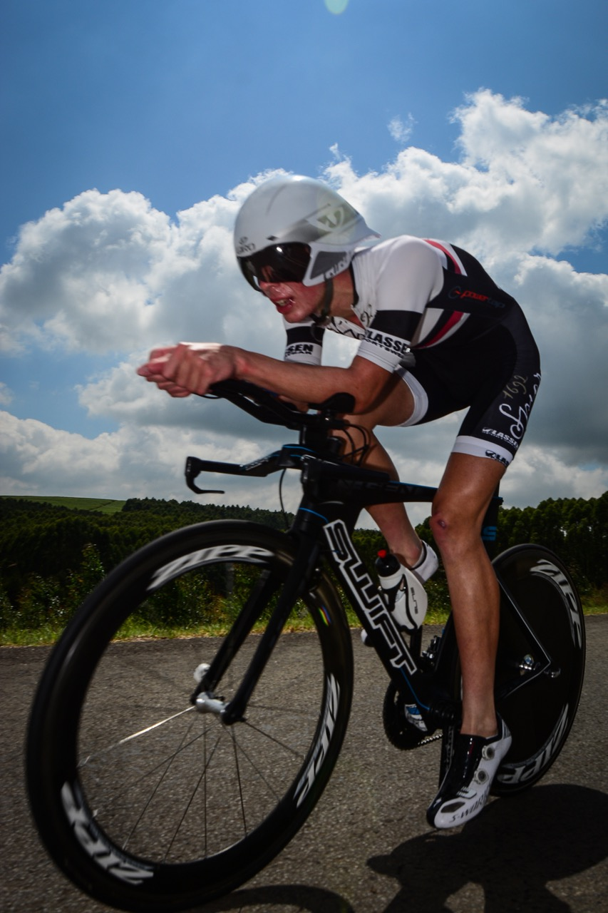 Junior rider Gregory de Vink of the LEADout SA team nailed the 24km route to secure his National Time Trial Title in 00:34:27,65 during Day 2 of the 2016 SA National Road, Time Trial and Para-cycling Championships in Wartburg, KwaZulu-Natal, on Thursday 11 February. Photo credit: Darren Goddard