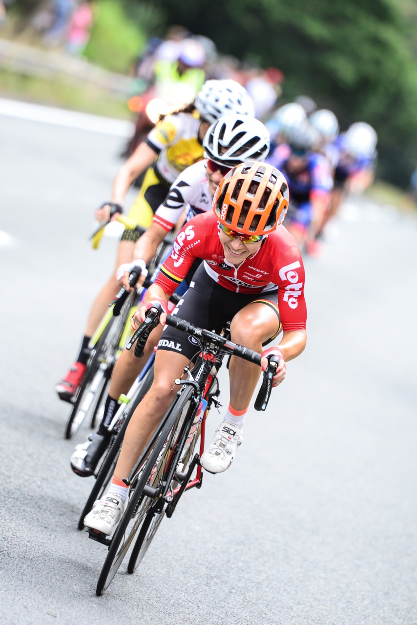 Race winner An-Li Kachelhoffer (Lotto-Soudol Ladies)said she's in the form of her life and had a set race plan to claim the National Jersey during the Elite Women's Road Race at the 2016 SA National Road, Time Trial and Para-cycling Championships in Westville, KwaZulu-Natal,on Saturday 13 February.Photo credit: Darren Goddard