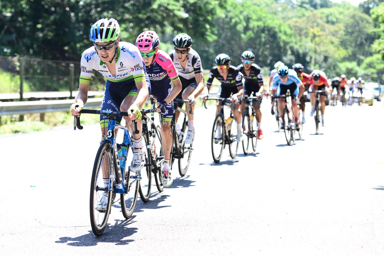 In the remaining 45km of the 170km race, Daryl Impey (Orica-GreenEDGE) and Louis Meintjes (Lampre Merida) charged hard to close the seven-minute gap to the leaders at the 2016 SA National Road, Time Trial and Para-cycling Championships in Westville, KwaZulu-Natal,on Sunday 14 February.Photo credit: Darren Goddard