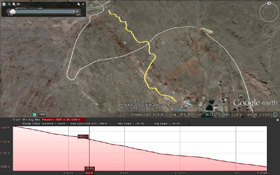 The Downhill course will be a length of 1.1km with a drop of 184m.