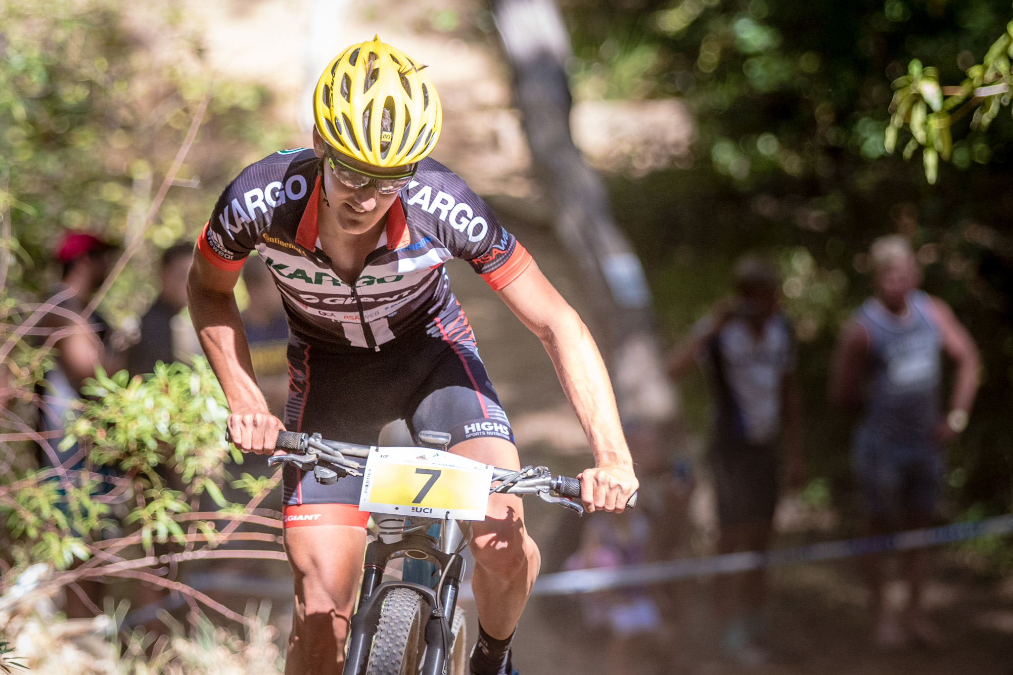 Kargo Pro MTB Team's Alan Hatherly currently leads the Pro-Elite Men's category by just 15 points, and hopes to retain the top spot at the third round of the Stihl 2016 SA XCO Cup Series, which takes place at Wolwespruit Bike Park in the City of Tshwane on Saturday 26 March. Photo: Chris Hitchcock.