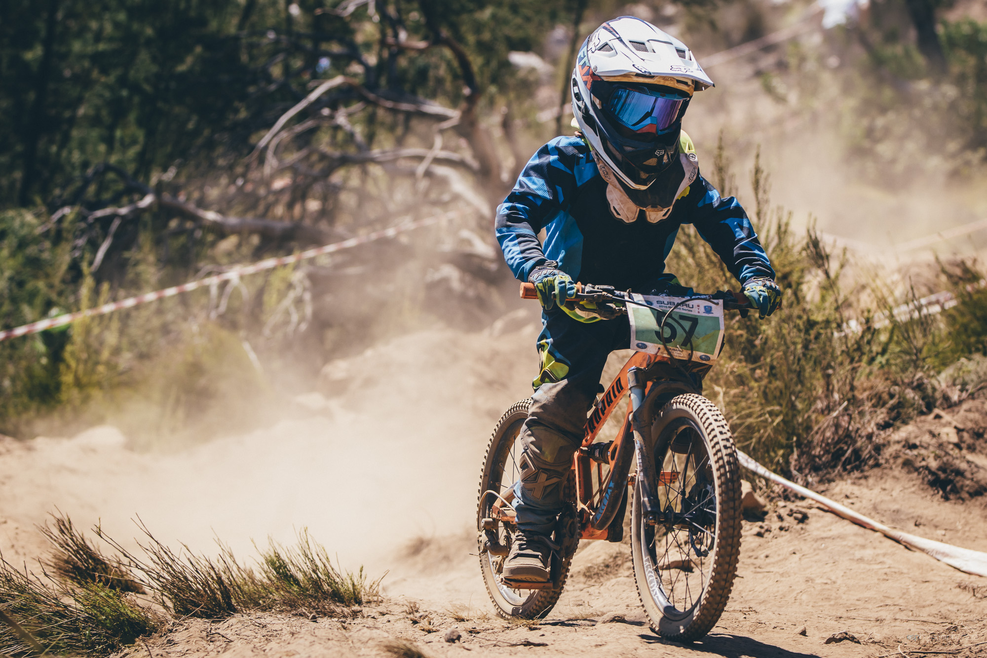 Nipper Boy and youngest member of the Wolfson clan, Benjamin Wolfson (8), puts his heart and soul into his run at the Helderberg Trails in Somerset West for the Western Cape Downhill Provincial, which doubled as the first round of the South African National Cup Series, at the weekend. Photo: Ewald Sadie