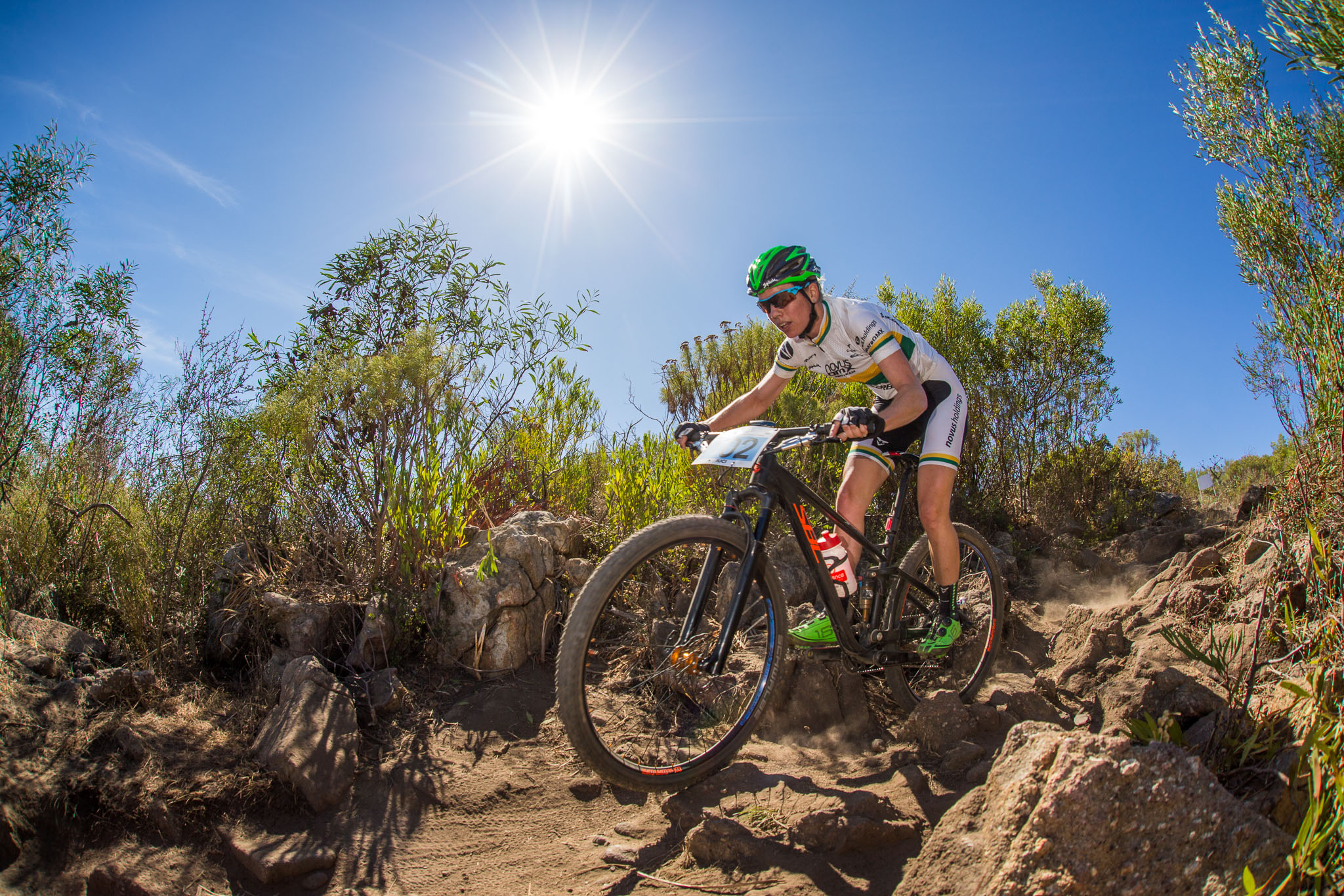 South African Women's Cross-country Champion, Cherie Vale (Novus OMX Pro Team), will be among the country's great MTB enthusiasts at the Stihl 2016 SA XCO Cup Series, which takes place at Wolwespruit Bike Park in Erasmuskloof, Pretoria on Saturday 26 march. Photo: Chris Hitchcock