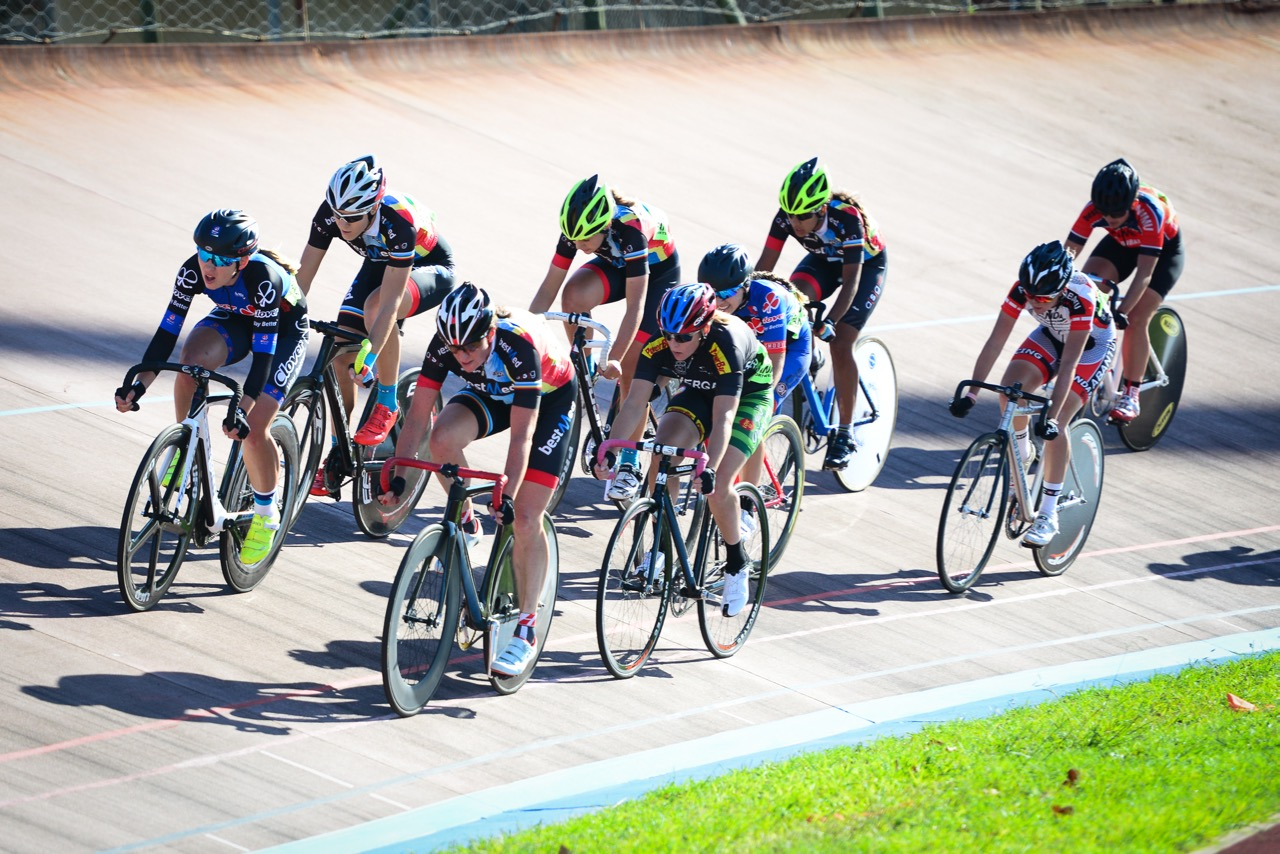 Elfrieda Wolfaardt (BestMed ASG) won the gold medal in the Elite Women's Points race on day three of the 2016 South African Track and Para-cycling Championships at the Westbourne Oval in Port Elizabeth on Wednesday 30 March. Photo credit: Darren Goddard