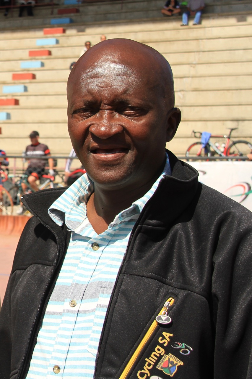 Cycling South Africa's Transformation and Development Commission Director, Yster Xatasi,believes that track cycling gives development riders opportunities to be involved in cycling and to become top riders at the 2016 South African Omnium Championships at the Westbourne Oval in Port Elizabeth on Saturday 2 April. Photo credit: Mylene Paynter