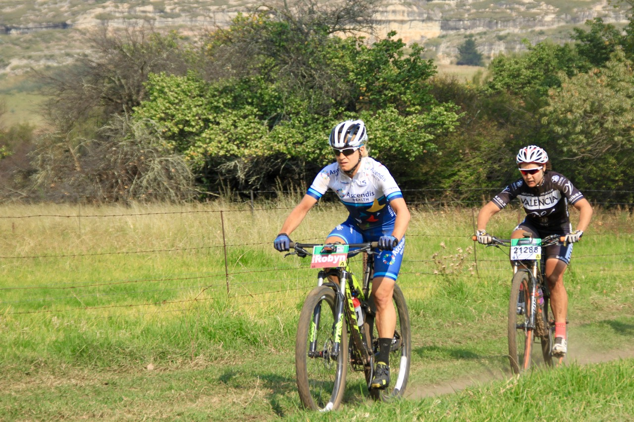 Everything went according to plan for Team Ascendis Health's Robyn de Groot, who claimed a dominat victory in the Elite Women's race over 77.5 kilometres in a time of three hours 25 minutes and 34 seconds at the third round of the Ashburton Investments National MTB Series this year, which played host to the 2016 South African Mountain Bike Marathon Championships in Clarens, on Saturday 16 April. Photo: supplied