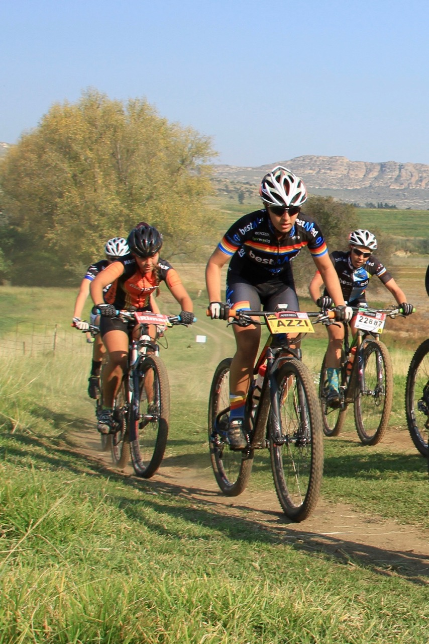 Fifteen-year-old Azulde Britz (BestMed Factory Lapierre Team)won the Youth Women's race to be crowned the SA MTB Marathon Champion in a time of two hours two minutes and eight seconds at the third round of the Ashburton Investments National MTB Series this year, which played host to the 2016 South African Mountain Bike Marathon Championships in Clarens, on Sunday 17 April. Photo: supplied