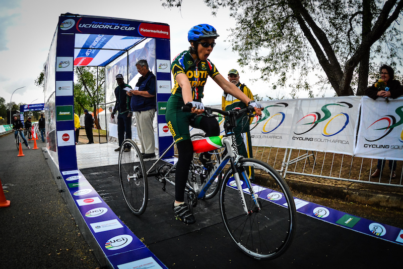 Double T1 South African National Para-cycling Time Trial & Road Race Champion, Toni Mould, is looking forward to the excitement of the opening round of the 2016 UCI Para-cycling Road World Cup, which takes place this year in Pietermaritzburg, South Africa, from 7-8 May. Photo: Darren Goddard