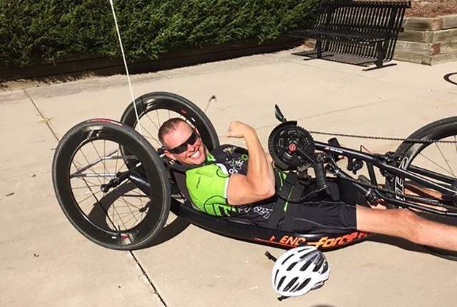 Las Vegas resident and handcycler Chris Sproule says he's now in better shape than when he played championship soccer in high school and college. Special to View