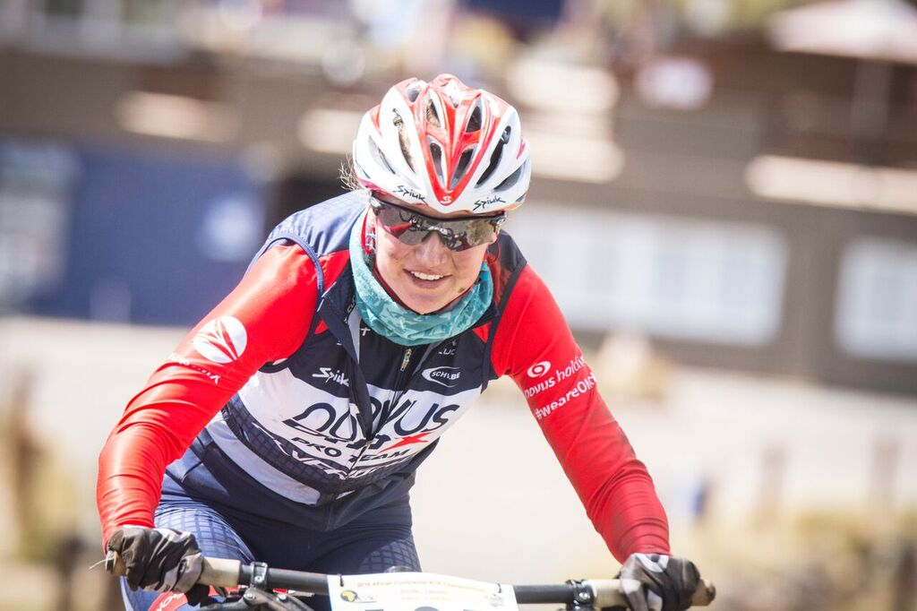 """2016 Elite Women's African Continental MTB XCO Champion, Mariske Strauss (Novus OMX Pro MTB Team), is ready to bring her """"A"""" game to the UCI HC Category XCO race at Cascades MTB Park, Pietermaritzburg, on Saturday 30 April. Photo: Andrew McFadden/BOOGS Photography"""