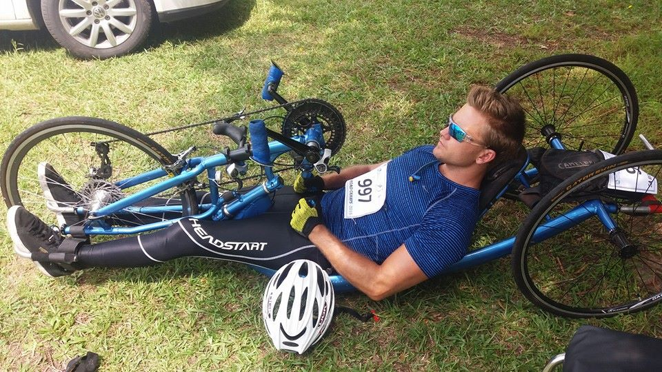 H3 hand cyclist, Nic Whiteing is honoured to be representing South Africa at the opening round of the 2016 UCI Para-cycling Road World Cup, which takes place in Pietermaritzburg, South Africa, from 6-8 May. Photo: Supplied