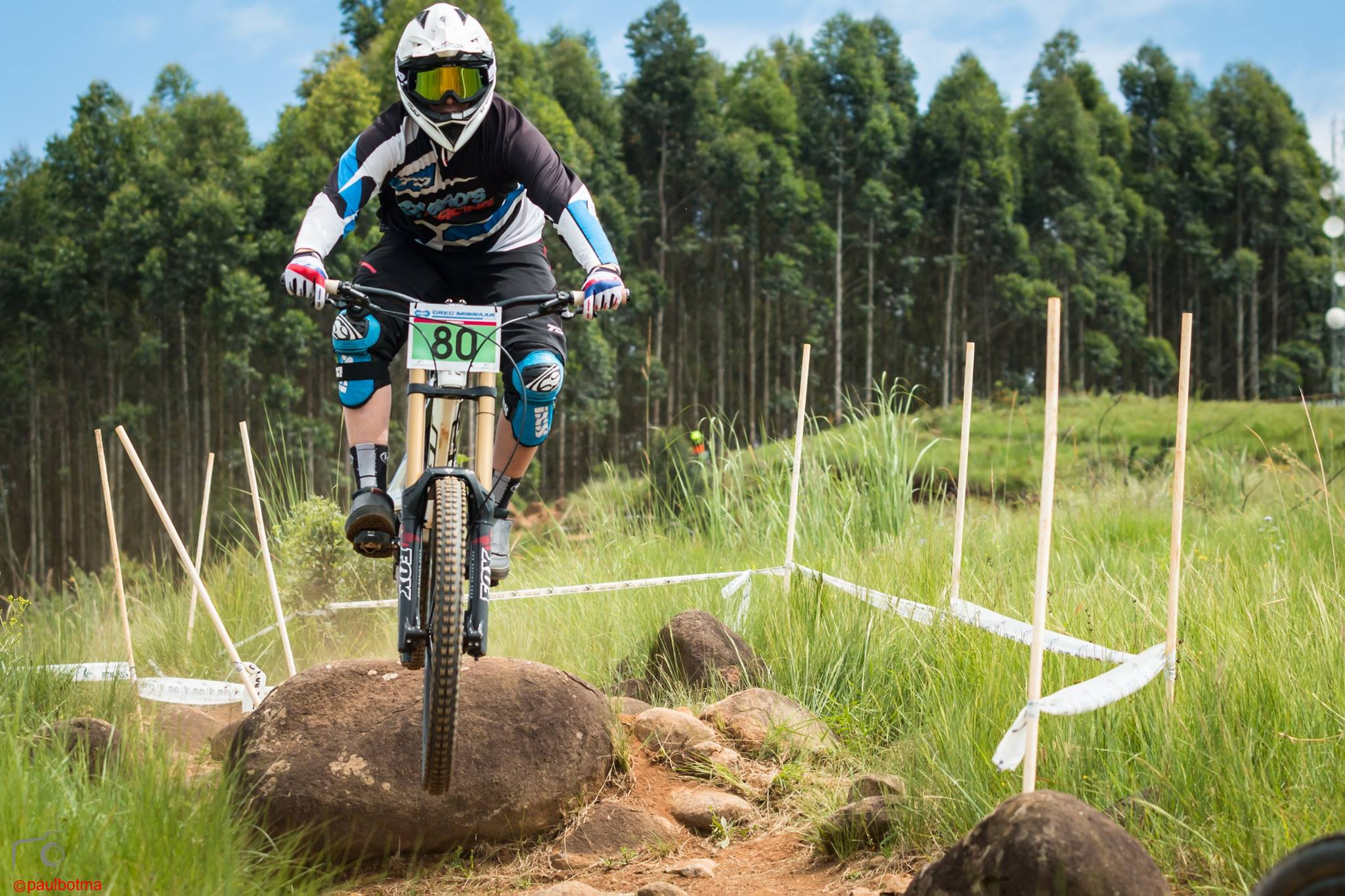 Junior Men's Log leader, Christopher Philogene is looking to hold onto the top spot in his category at the third round of the 2016 KZNMTB Provincial Downhill Series – presented by Greg Minnaar Cycles, on Sunday 22 May, which doubles as the fourth round of the 2016 SA National DHI Cup Series. Photo: Paul Botma