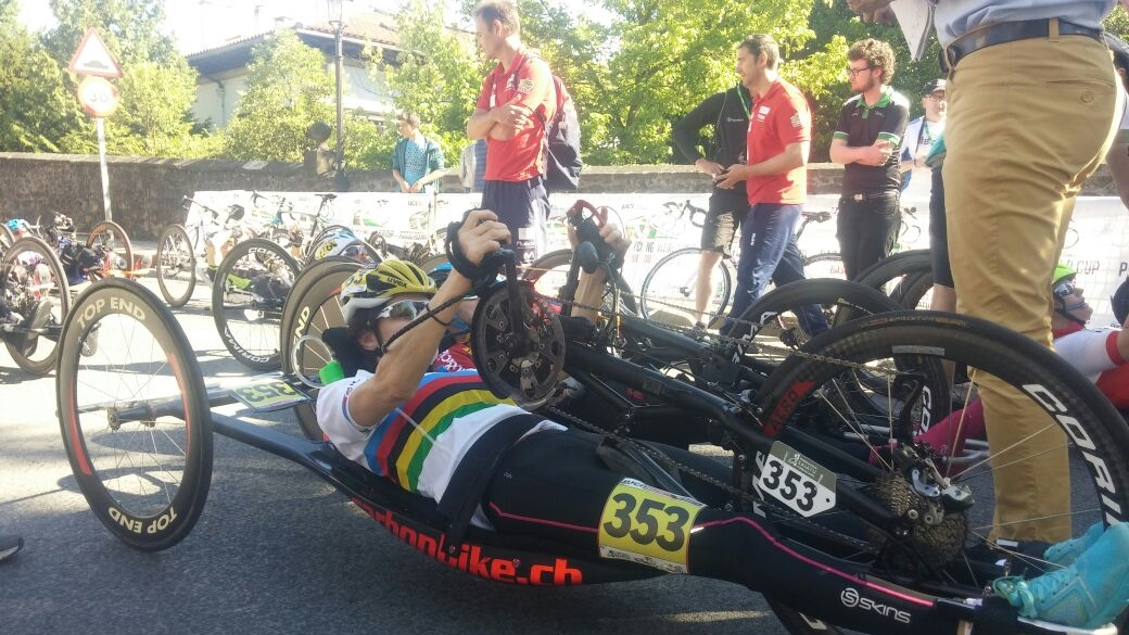 Justine Asher extended her 2016 season of world class performances by lapping her main competition and easily claiming gold with a margin of 24 minutes in the road race at the UCI Para-cycling Road World Cup, hosted by the Basque Country, Spain. Photo: supplied