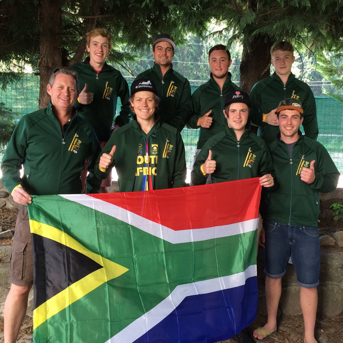The South African Downhill Team prepares ahead of the 2016 UCI MTB World Downhill Championships in Val di Sole, Italy from 6-11 September. Photo: Struan McMaster