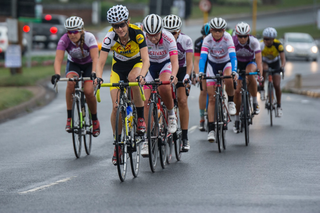 Cycling South Africa Women's Commission Director and Time Freight eTeam manager, Lise Olivier (front) looks forward to the opportunities that lie ahead for women's cycling at the KZN Summer Series on 16 and 17 November 2016. Photo: Cycling SA