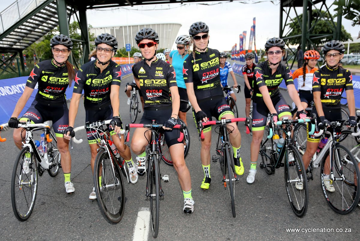 The Cycle Nation Women's Team is ready for action at the 2016 KZN Summer Series on 16 and 17 November. (Left to right) Amanda Wray, Herme Visser, Cashandra Slingerland, Alexa Terblance, Jeri Moran and Charmain McCallum. Cashandra, Jeri and Charmaine will be in the Summer Series squad.Photo: Rika Joubert