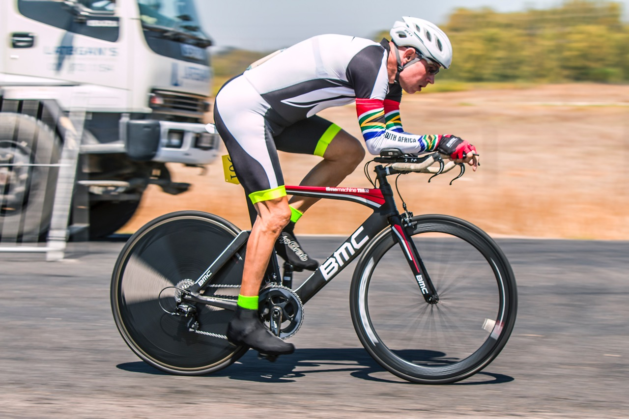 Gavin Cowden took the first place position in the Men's C4 Time Trial at the 2017 SA National Road Championships in Wellington on Tuesday 7 February. Photo: Double ST