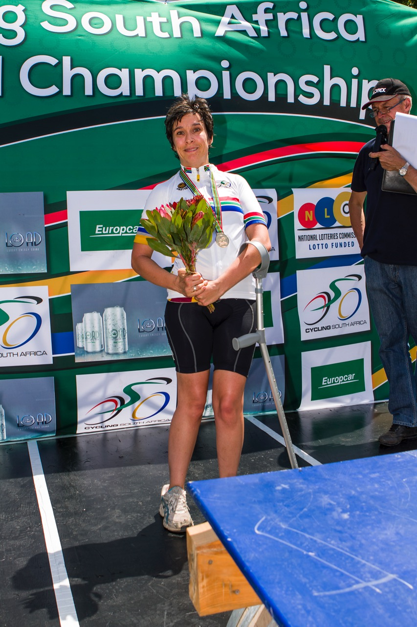 Not only did Toni Mould grab the gold medal in the Women's T1 Time Trial on Tuesday, but also claimed one in her Road Race at the 2017 SA National Road Championships in Wellington on Friday 10 February. Photo: DoubleST