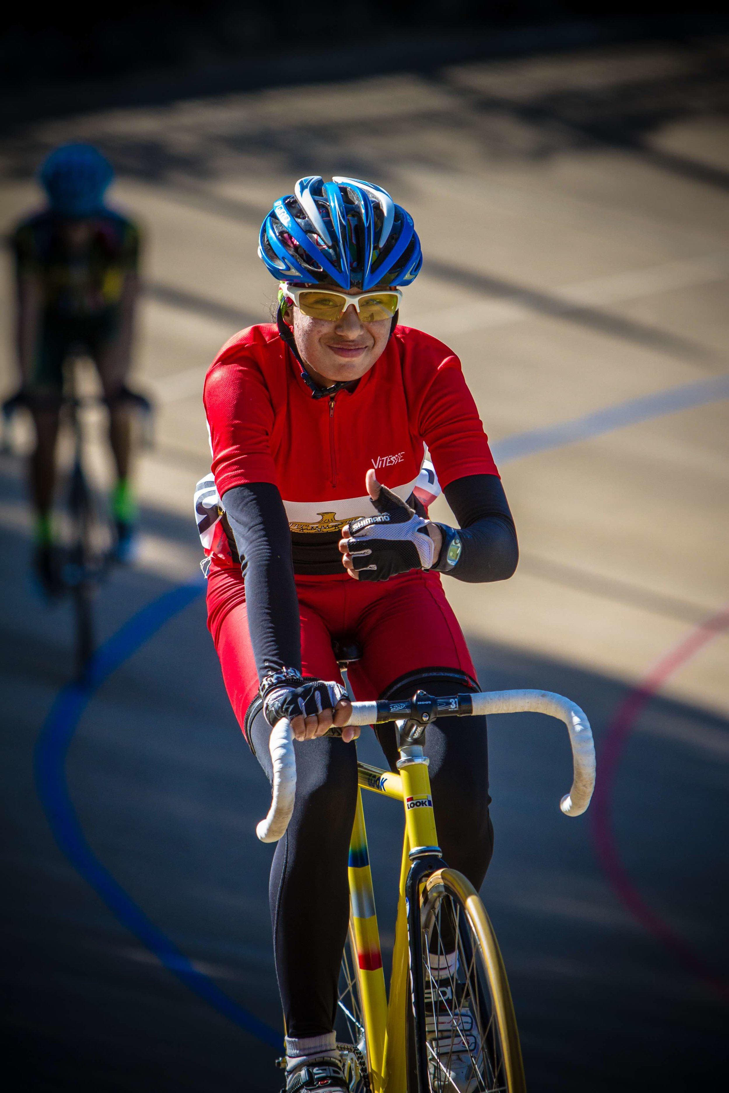 2016 Olympian Ebtissam Zayed from Egypt will be taking part in the African Continental Track cycling Championships at the Cyril Geoghegan Velodrome in Durban from 20-24 March 2017. Photo: Craig Dutton