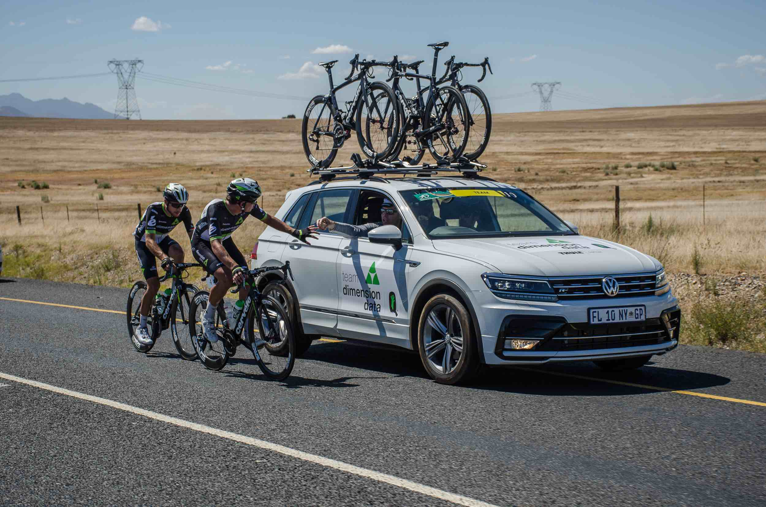 South Africa's Team Dimension Data for Qhubeka (pictured here at the SA National Road Championships) and other International riders relish the opportunity to compete in an Elite International Road Cycling Stage Race on South African soil. The cycle tour, created by Cycling South Africa and SweetSpot, is scheduled to be held in the first quarter of 2018. Photo credit: Stuart Pickering/Cycling Direct