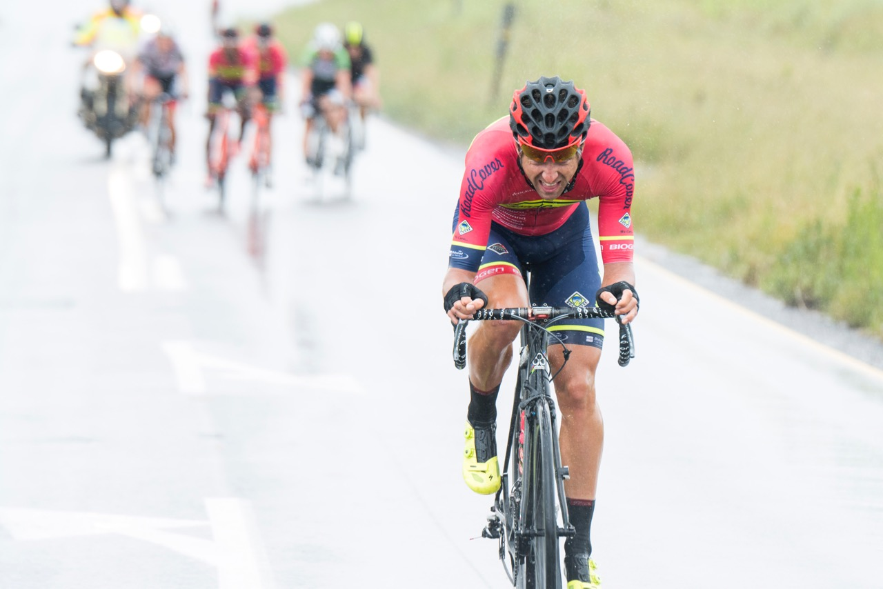 Team Road Cover's Brendon Davids rode away to victory on the first day of the KZN Summer Series for Men in Pietermaritzburg on Saturday 25 March. Photo: Andrew McFadden/BOOGS Photography