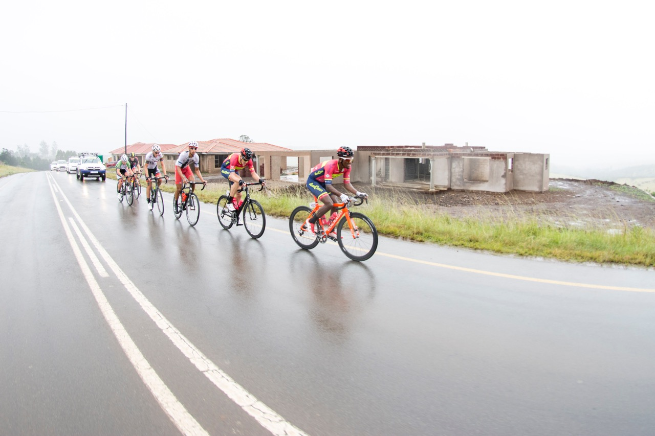 Team Road Cover's worked hard to get an all-red podium on the first day of the KZN Summer Series for Men in Pietermaritzburg on Saturday 25 March. Photo: Andrew McFadden/BOOGS Photography