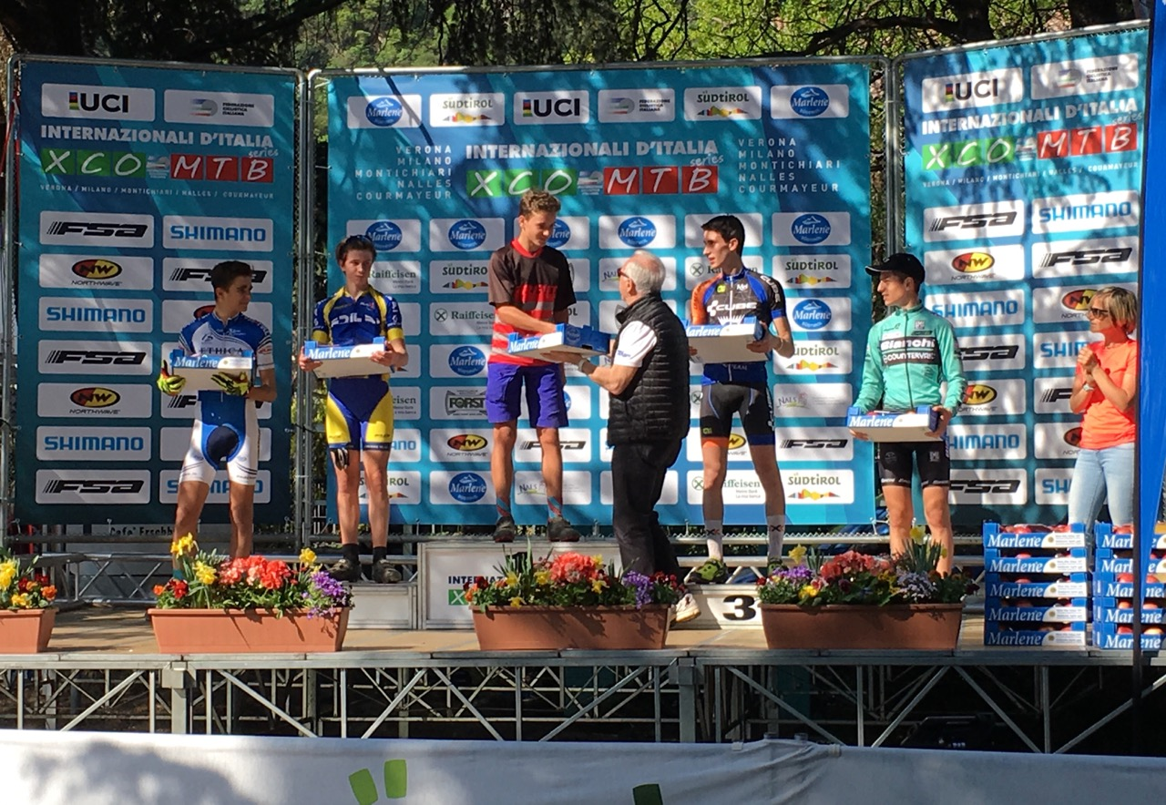 Up-and-coming mountain bike racer, Luke Moir, has added an international cross-country title to his repertoire this year when he won the fourth round of the Italian International Series, which was held in Nals, Bolzano on 9 April, against a massive field of 96 boys! Photo: supplied