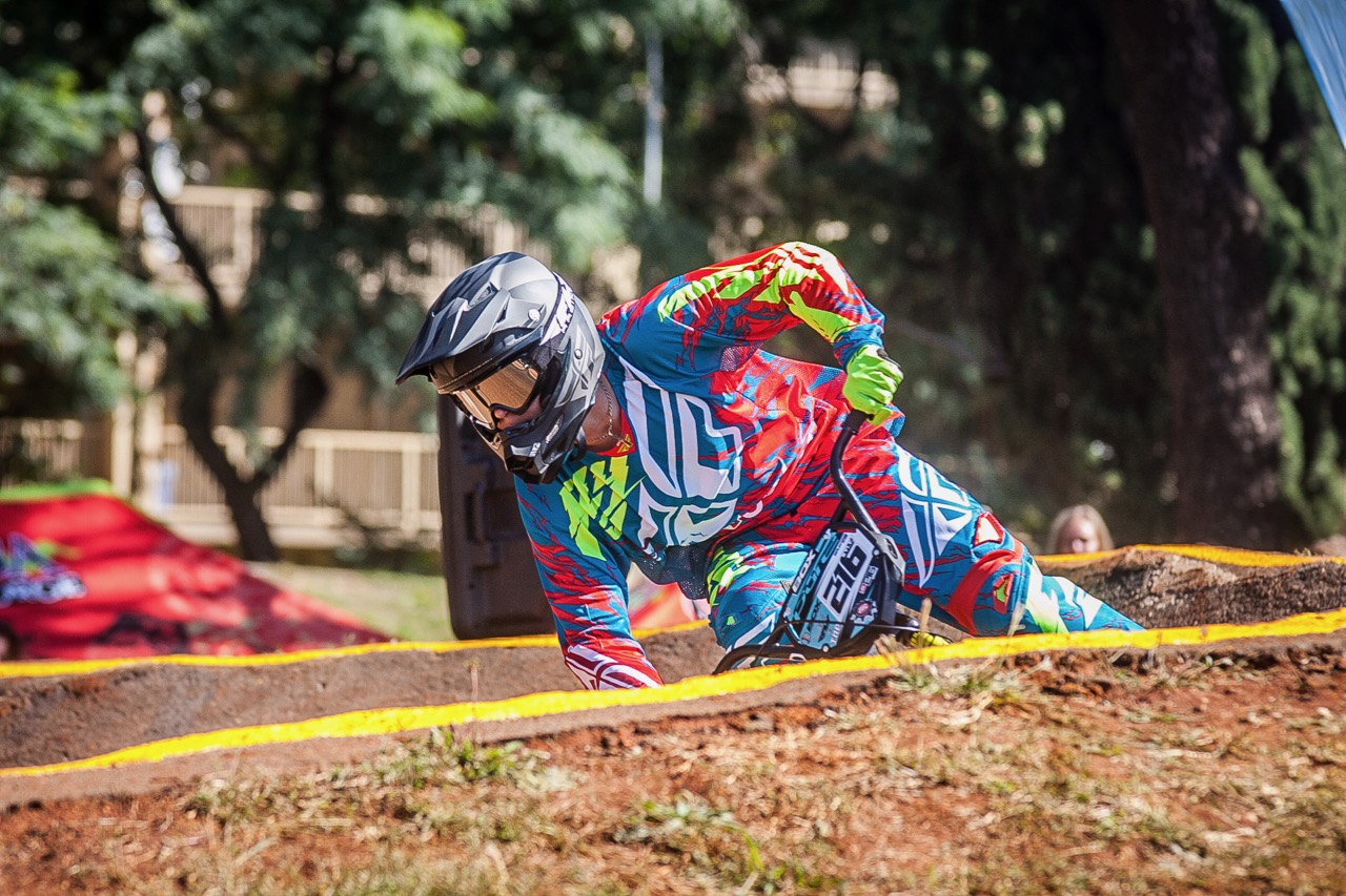 Rio Olympian Kyle Dodd was the man to beat when he set the bar high at the opening rounds of the 2017 SA BMX National Age Group (NAG) Series, which took place at Germiston BMX Club in Gauteng from Friday 14 to Sunday 16 April. 📷  Daryn Varney