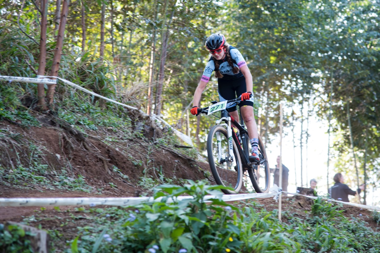 Tiffany Keep claimed the gold medal in the final round of the SA National MTB Cup Series XCO at Cascades MTB Park on Saturday 17 June. Photo: BOOGS Photography