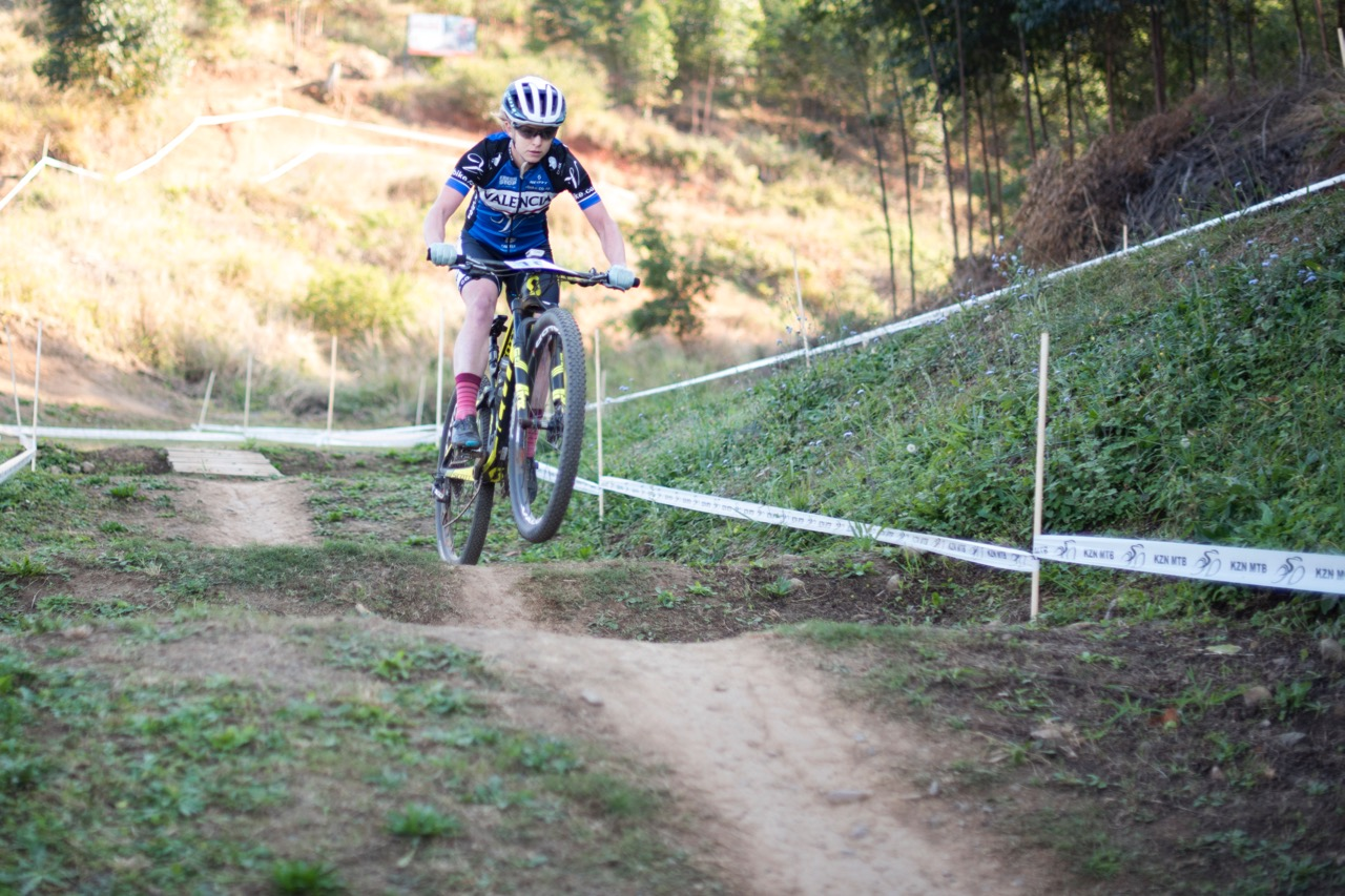 The Elite Women's title went to Valencia's Amy Beth McDougall in the final round of the SA National MTB Cup Series XCO at Cascades MTB Park on Saturday 17 June. Photo: BOOGS Photography