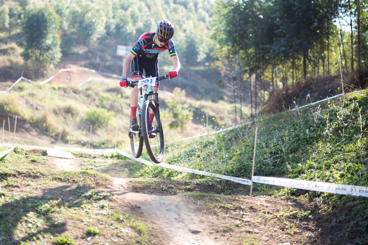 Australian Junior National XCO Champion Cameron Wright took the Junior Men's title at the final round of the SA National MTB Cup Series XCO at Cascades MTB Park on Saturday 17 June. Photo: BOOGS Photography