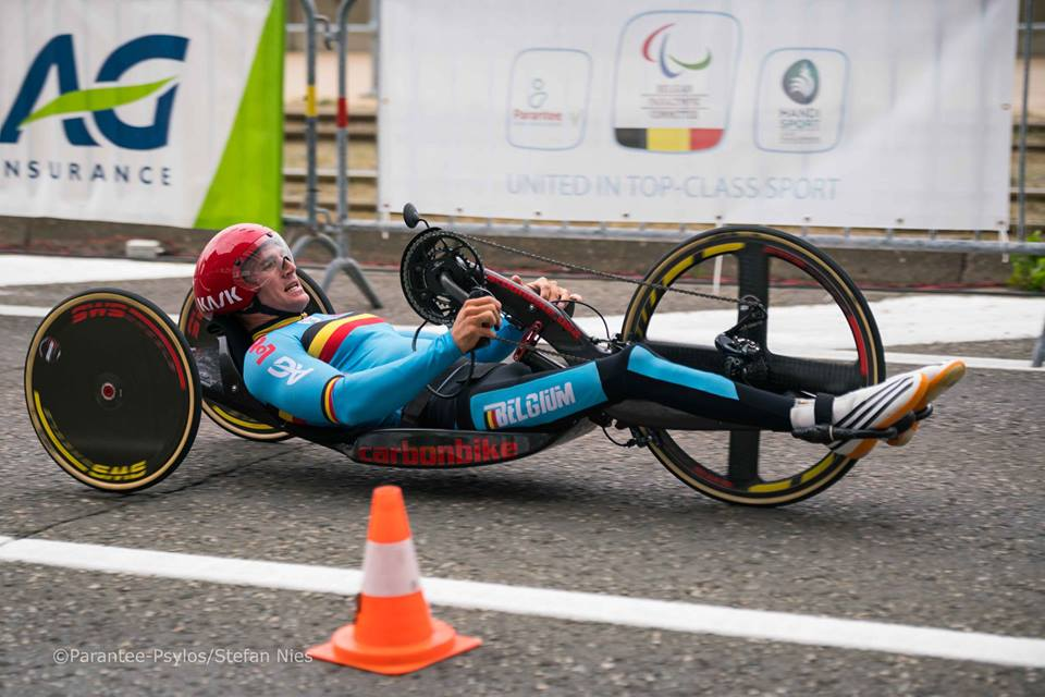 Belgian H4 Handcycling Champion Jonas Van de Steene is looking ahead to the 2017 UCI Para-cycling Road World Championships in PIetermaritzburg from 31 August - 3 September. Photo:    Parantee-Psylos vzw