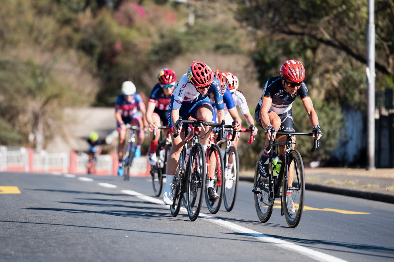 The Women's C5 Road Race on Day 4 of the 2017 UCI Para-cycling Road World Championships held at Alexandra Park Pietermaritzburg, South Africa, on Sunday 3 September 2017. Photo credit: Andrew Mc Fadden