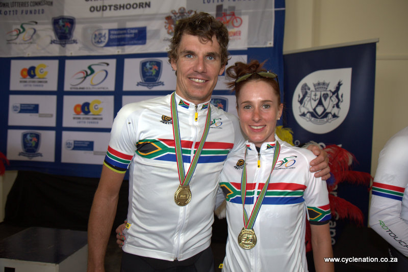 Daryl Impey (33) and Carla Oberholzer (31) were crowned SA National Road Champions on the penultimate day of the six-day 2018 SA National Road and Para-cycling Championships, which took place in the streets of Oudtshoorn from 6-11 February. 📷 www.cyclenation.co.za