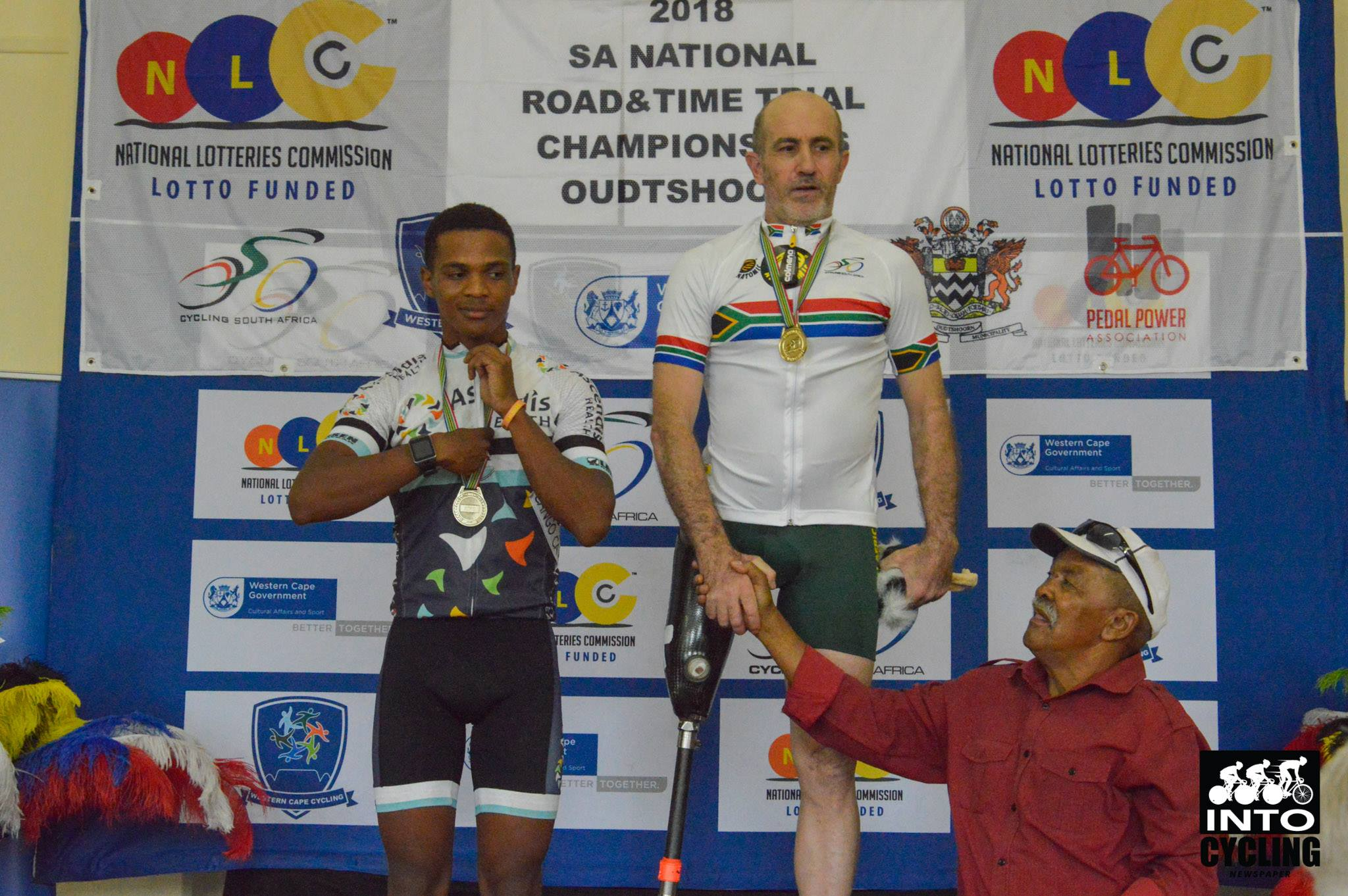 Oswald Kydd won the Time Trial in the C2 class with Phillo Verlaat claiming the silver medal at the 2018 SA   National Road and Para-cycling Championships, which took place in the streets of Oudtshoorn from 6-11 February. 📷 www.intocycling.co.za