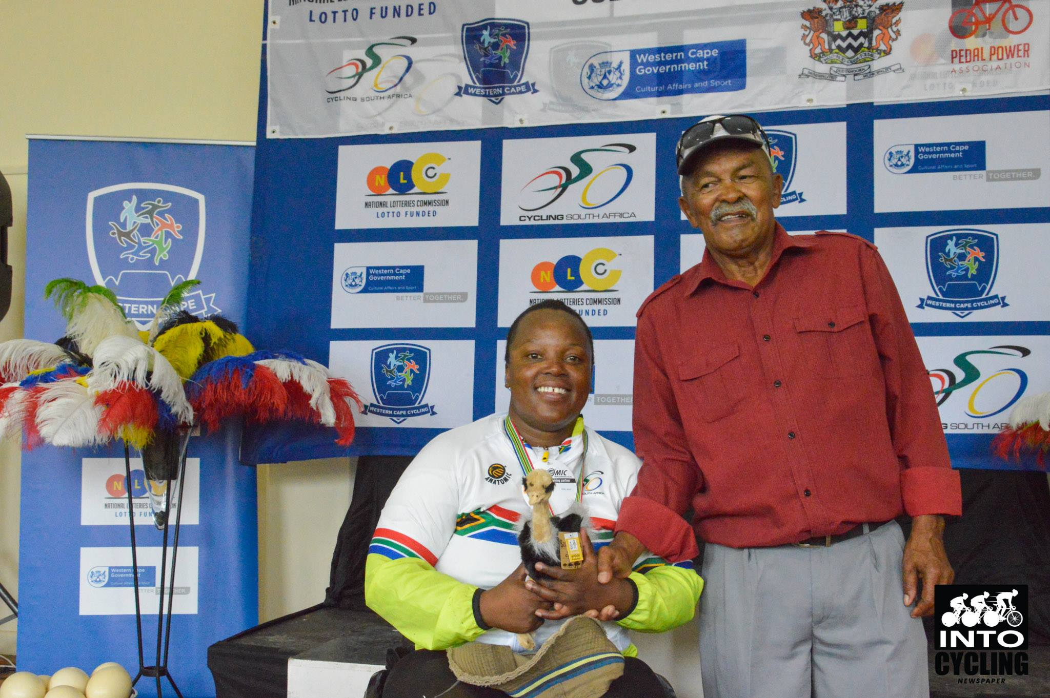 Palesa Manaleng proudly wears her new National Championships stripes after winning a gold medal in the Women's H3 handcycle event at the 2018 SA National Road and Para-cycling Championships, which took place in the streets of Oudtshoorn from 6-11 February. 📷 www.intocycling.co.za