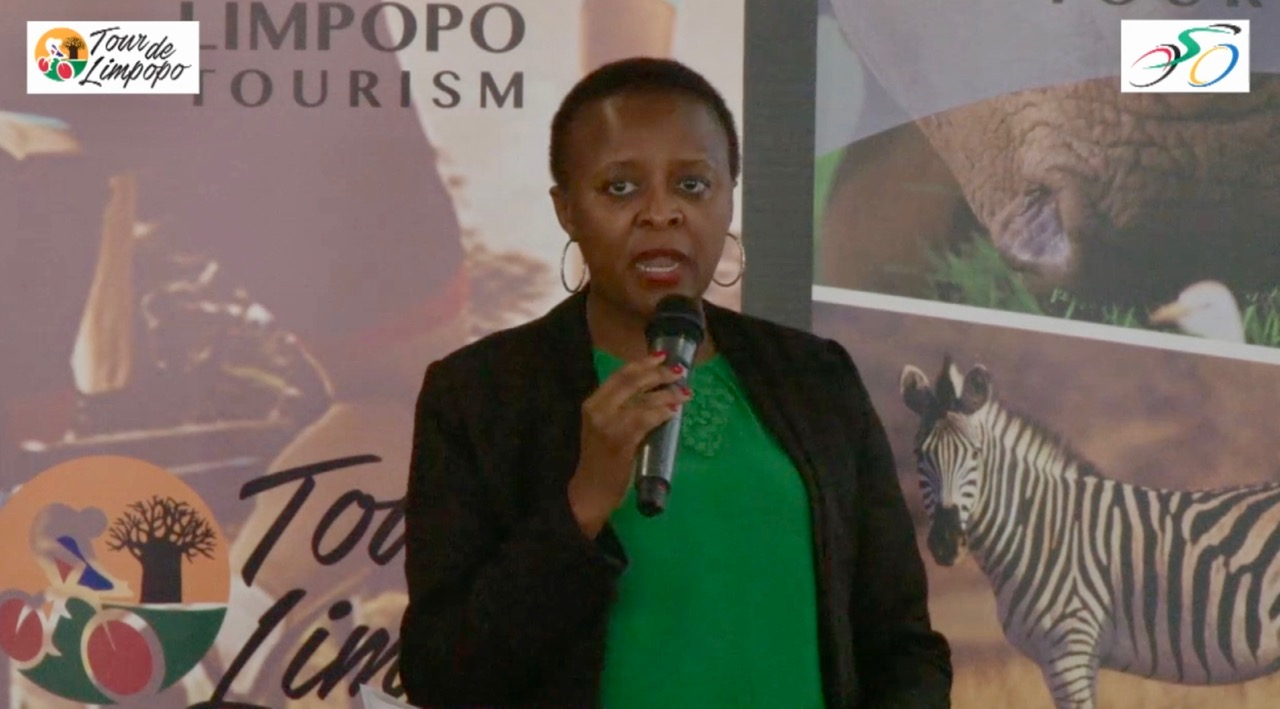 """Limpopo Tourism Agency's Chief Executive Officer, Ms. Sonto Ndlovu, says, """"The Tour de Limpopo is an opportunity for the province to showcase some of its major attractions to the cyclists, spectators, and their respective management teams and families. This was an opportunity we could not let pass us by as we have a responsibility to market our province as a tourist destination, particularly adventure tourism, given our magnificent landscape and topography."""""""
