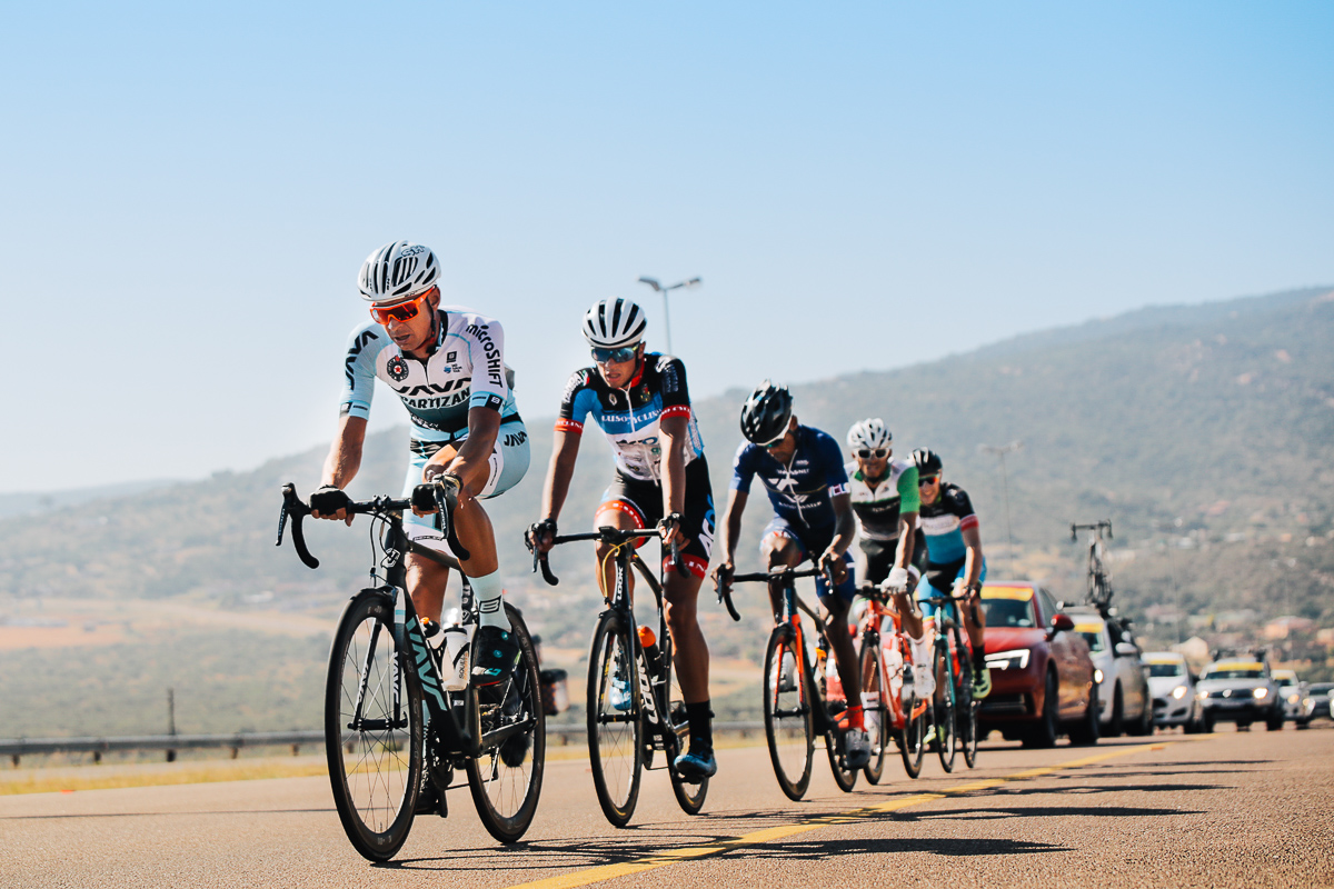 Andreas Keuser (Java Partizan Pro Cycling) leads the chase group on Stage 4 of the Tour de Limpopo from Tzaneen to Polokwane on Thursday 26 April 2018 © HaydsBrown