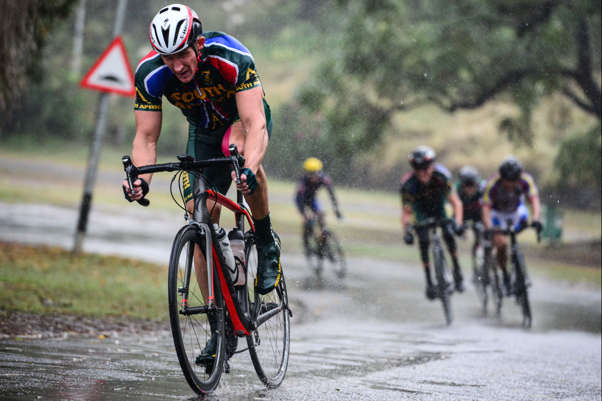C5 rider Gary Coetzee, who is rapidly making the transition to elite-level competitiveness. He is aiming for top-10 finishes in the 2018 Maniago World Championships