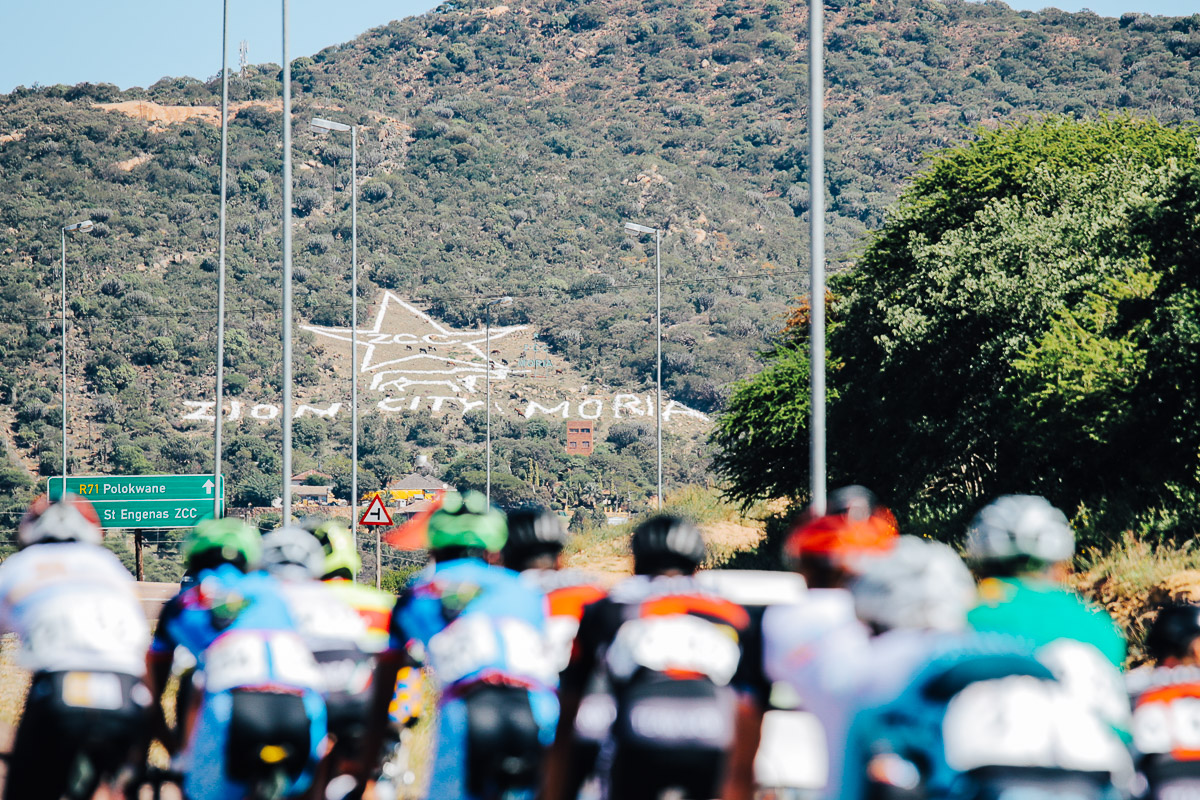 The peloton will pass the Zionist Church site of Zion City Moria, where over three million pilgrims attend religious ceremonies over the Christian Easter Weekend, on the 96.6km second stage of the 2019 Tour de Limpopo (UCI 2.2) from 14-18 May © TourDeLimpopo/HaydsBrown