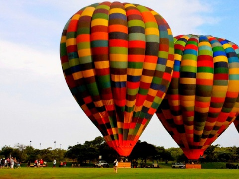 Balloon safaris are popular in the Waterberg region - this safari was captured at Legend Golf and Safari Resort. Photo from the Limpopo Tourism Destination Guide.