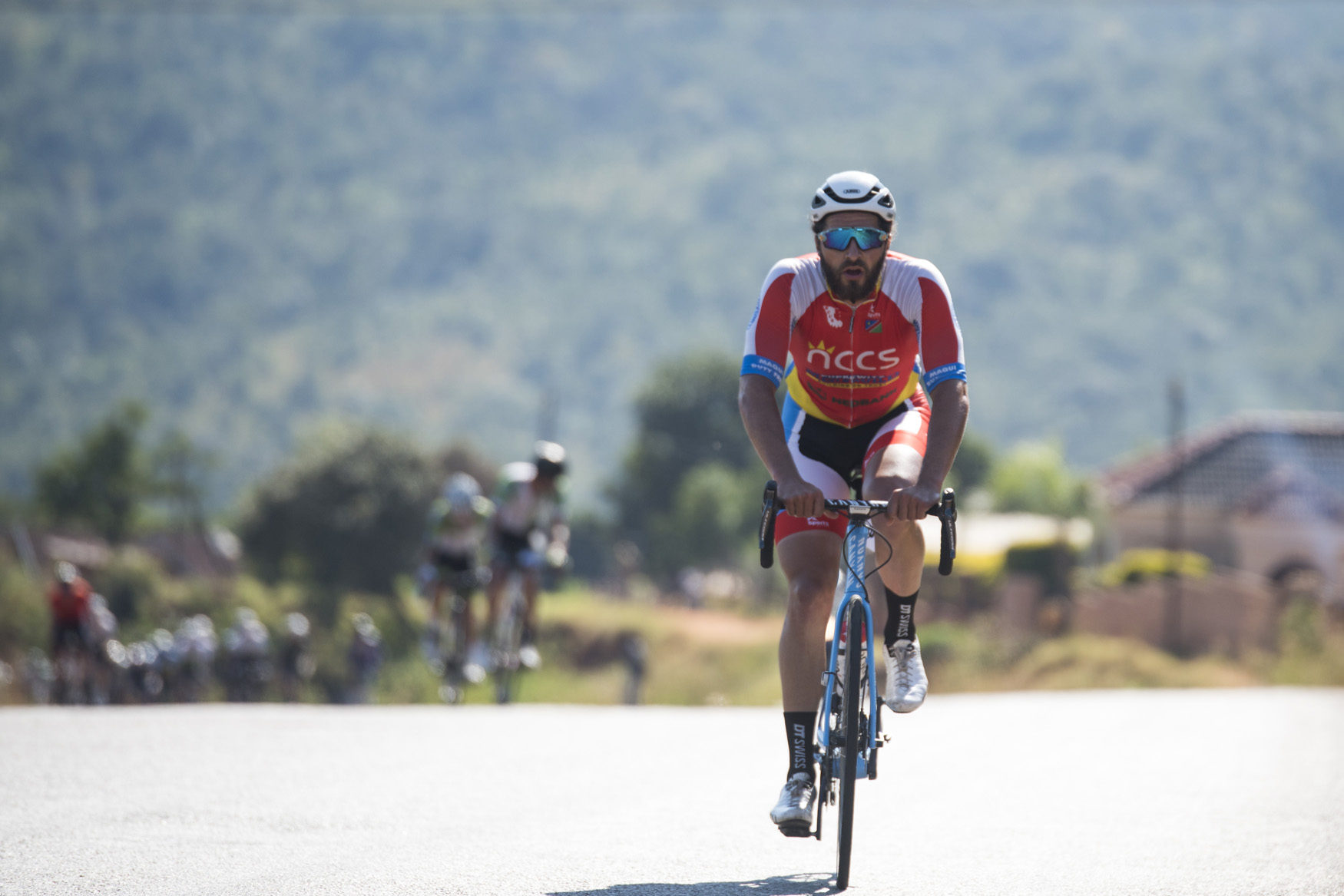 Herman Keller (NCCS Namibia) launched  several attacks, which earned him the Red Jersey for today's stage from  Tzaneen to Old Coach Road, Mt. Agatha, on Stage 3 of the 2019 Tour de Limpopo (UCI 2.2) from 14-18 May © Tour de Limpopo/Andrew Mc Fadden