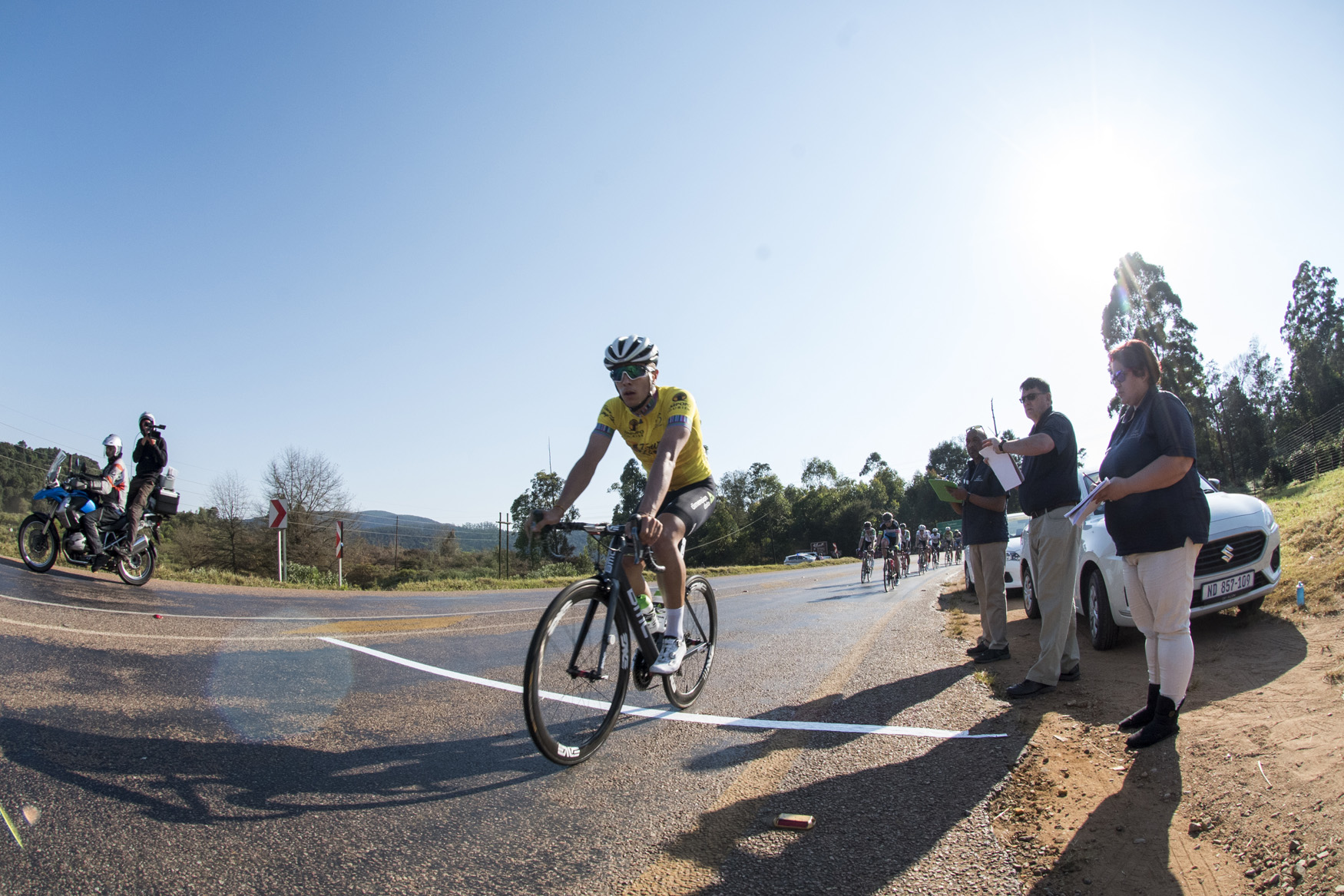 For the General Classification contention, Team Dimension Data Continental safely guarded their key man, the multiple jersey holder Samuele Battistella, to secure the overall GC victory  from Tzaneen to Peter Mokaba Stadium, Polokwane, on Stage 4 of the 2019 Tour de Limpopo (UCI 2.2) from 14-18 May © Tour de Limpopo/Andrew Mc Fadden