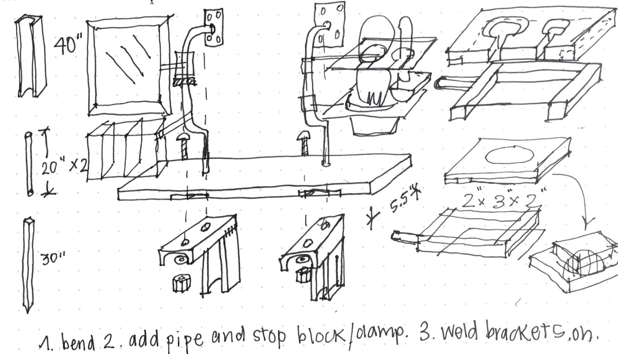 tech sketch of rj shelf prototype