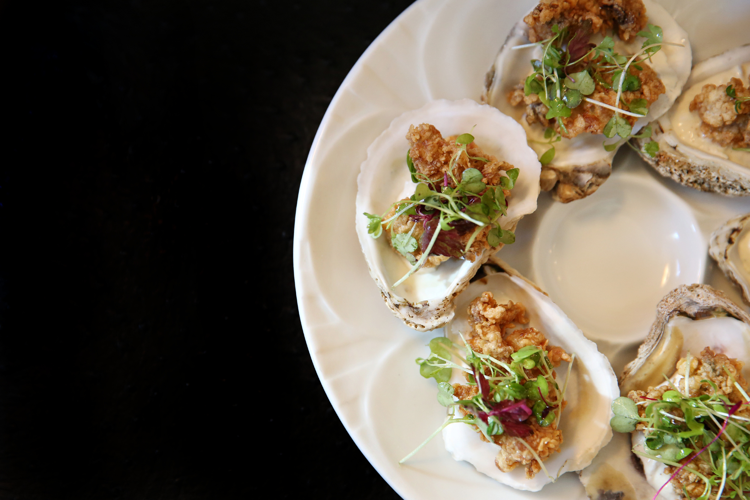 Cornmeal crusted oysters